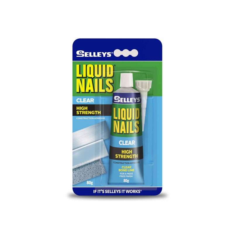Selleys Liquid Nails Clear Construction Adhesive 80g