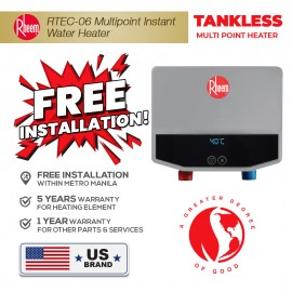 Rheem RTEC-06 E03 Tankless Electric Multi-Point Water Heater (6kW)