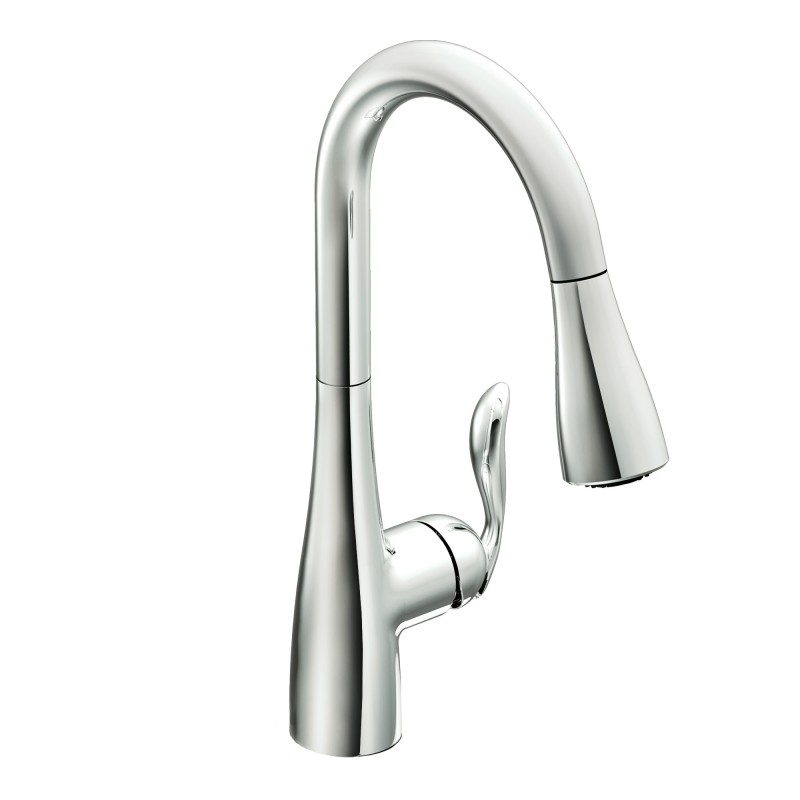 Moen 7594C Arbor chrome one-handle high arc pulldown kitchen faucet