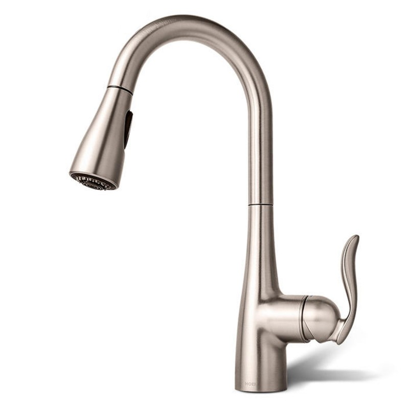 Moen Arbor spot resist stainless one-handle high arc pulldown kitchen faucet 7594SRS