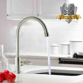 Mr. Plumber ET-100918Q-42-TM Stainless Steel Kitchen Faucet Pillar Tap
