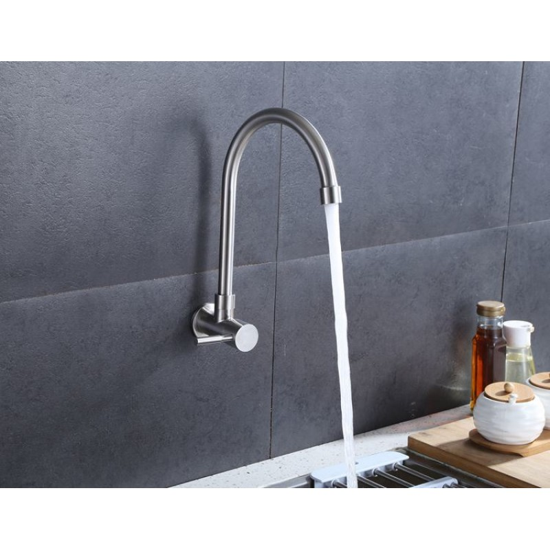 Mr. Plumber ET-100917Q-42-TM Wall Mount Kitchen Faucet 304 Stainless Steel