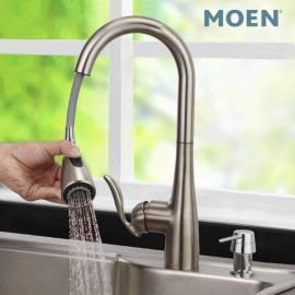 Moen 7594SRS Arbor spot resist stainless one-handle high arc pulldown kitchen faucet