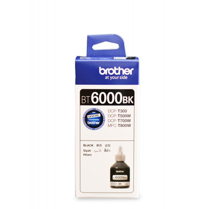 Brother Ink BT6000 BLACK 100% Original (Brother DCP-T300, T500W, T700W, MFC-T800W)