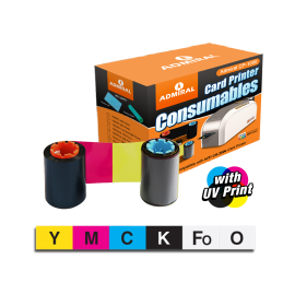 Admiral YMCKFoO Colour Ribbon with UV Print Technology (165 Prints)