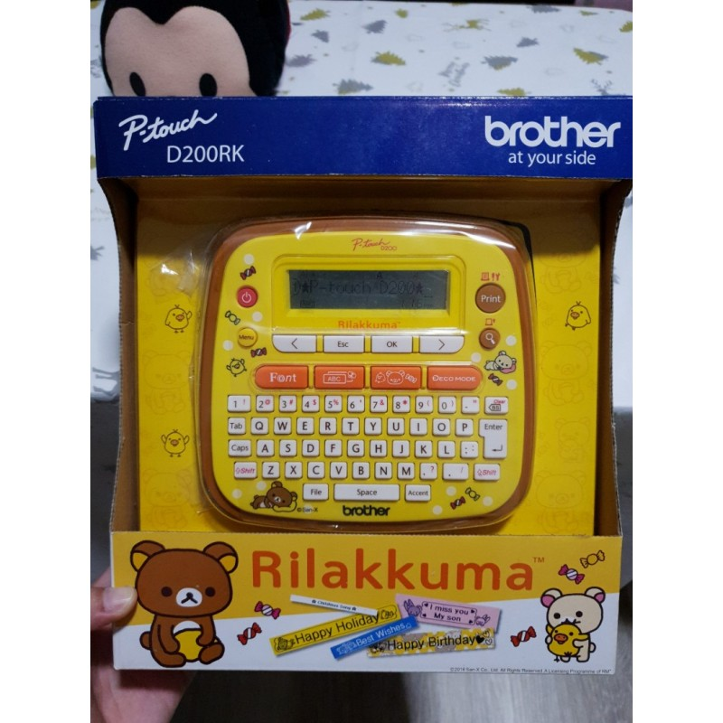 Brother PT-D200RK Rilakkuma for Personal, Hobby and Home use Label Maker