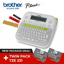 Brother PT-D210 for Personal Purposes of Hobby and Home Use with TZe-231V2 Tape