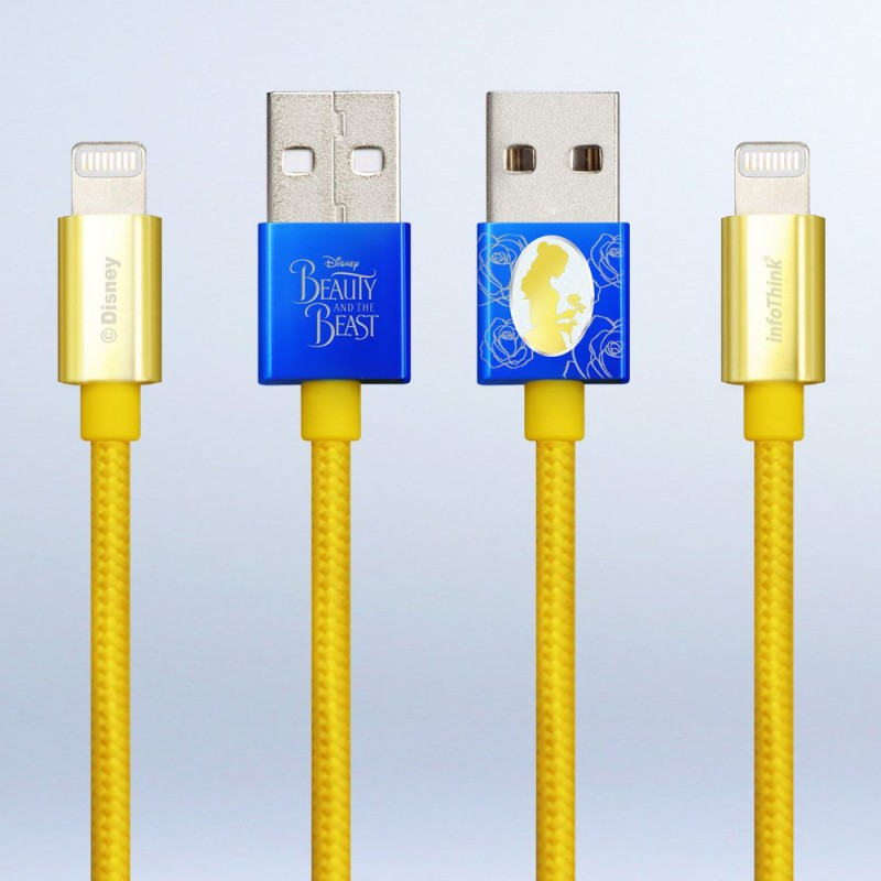 Infothink BEAUTY AND THE BEAST (iPhone/iPad) USB Fast Charging Cable